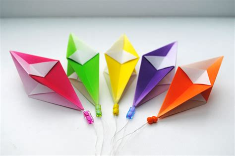 Easy Origami Ornaments - origami hanging decorations craft ideas lan anh