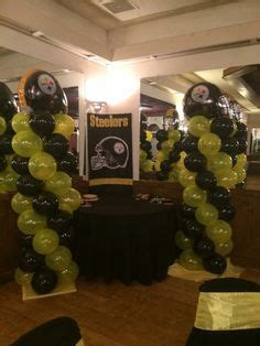 Steelers Baby Shower Ideas by Balloon Ideas For Steelers Steeler Balloons
