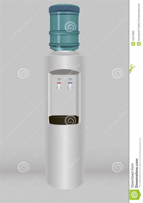 drinking water office stock vector image 44210662