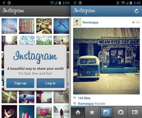 instagram s layout comes to android techcrunch with over 30 million users on ios instagram finally comes