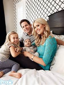 Tarek and christina el moussa on changing diapers family photo