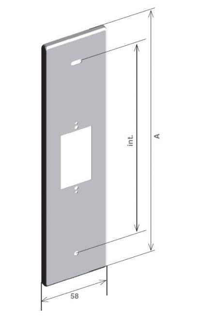 come si monta una porta a soffietto placca inox con predisposizione pulsante per motore
