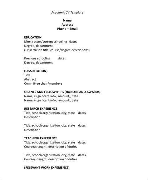 cv outline template cv template 20 free word pdf documents free