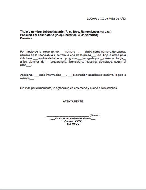 carta para solicitud de beca gt formatos y ejemplos mil formatos