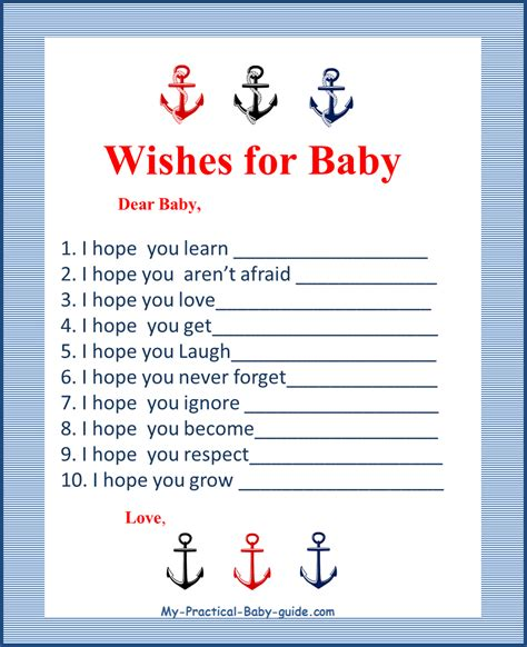 Nautical Baby Shower Printables Free by Nautical Baby Shower Theme Ideas My Practical Baby