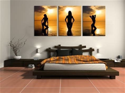 naked bedroom pictures handpainted 3 piece abstract oil painting on canvas wall art nude girls pictures for