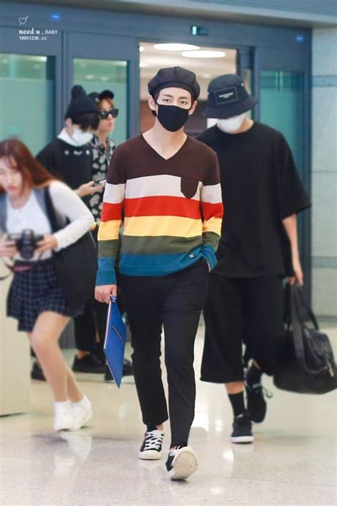 update fashion pria fffashionstyler twitter airport 160718 bts v kim taehyung bts bangtan