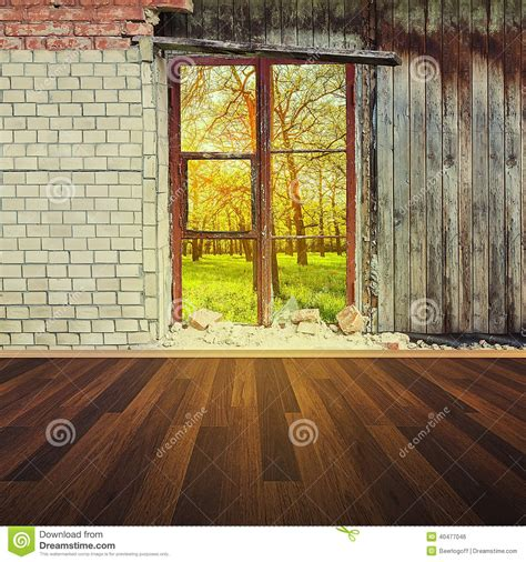 Interior Wall Window by Interior With Brick Wall And Window Stock Photo