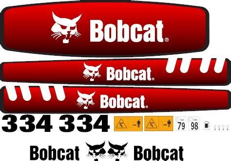 Bobcat Aufkleber Set by Bobcat 334 Decal Set 187 Amc Machinery Decals