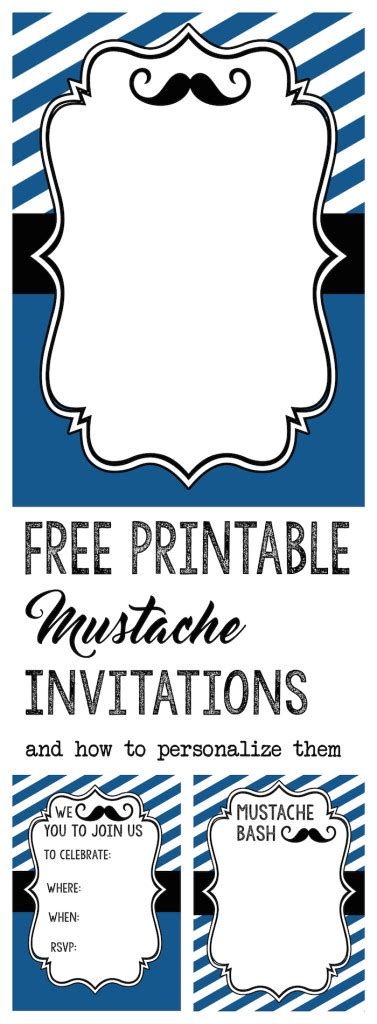 Mustache Party Baby Shower Or Birthday Invite Paper Trail Design Mustache Baby Shower Invitations Free Templates