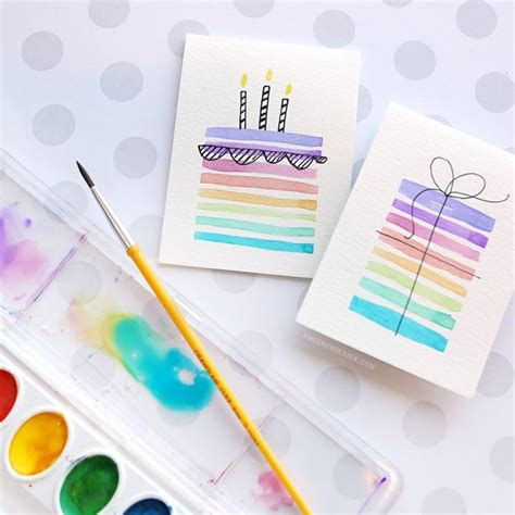 Painting Handmade - 25 unique watercolor cards ideas on