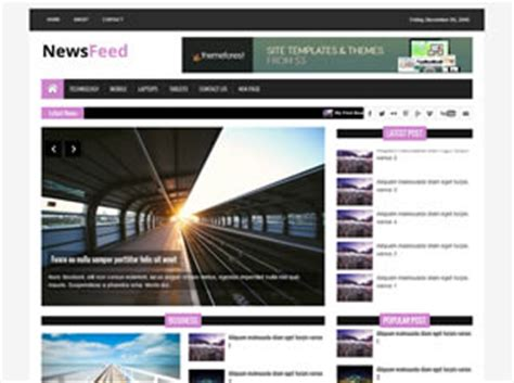 newsfeed  website template  css templates  css