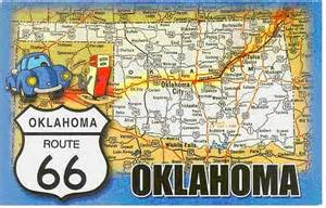 Route 66 Oklahoma Map by Route 66 Oklahoma Map Card Flickr Photo Sharing