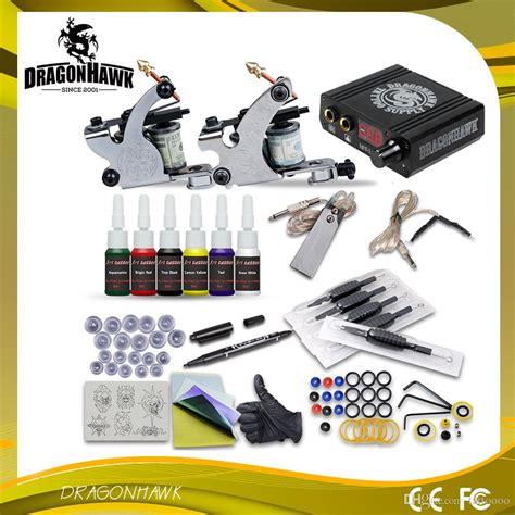 beginner tattoo kit complete kits 2 machine guns 6 inks power supply