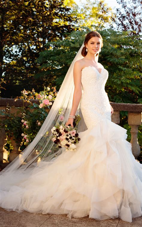 Wedding Dresses Australia by Rococo Beaded Wedding Dress With Textured Skirt Essense