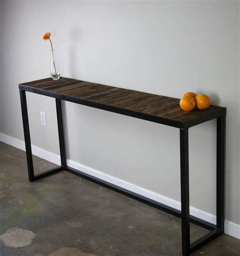 metal and wood sofa table wrought iron console table in simple style babytimeexpo