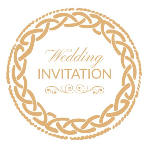 transparent background invitations announcements zazzle round wedding invitation label 1 transparent png svg