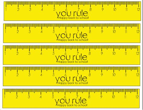 Printable School Ruler | you rule back to school printable