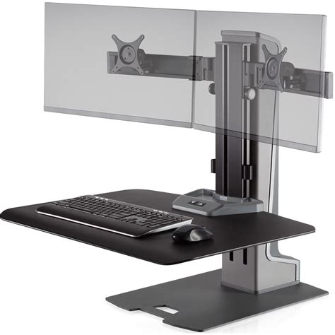 winston stand up desk innovative winston e dual monitor sit stand workstation