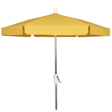 Yellow Patio Umbrella Yellow 7 5 Garden Umbrella Bright Aluminum