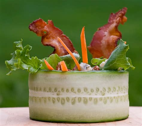 Kitchen Looks Ideas cucumber wrap salad with bacon and blue cheese framed cooks