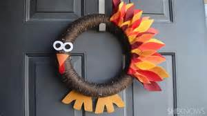Fall Decorations Cheap Easy Thanksgiving Turkey Wreath For Kids