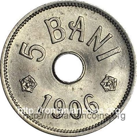 Yn1906 Outer 5 bani 1905 1906 coins