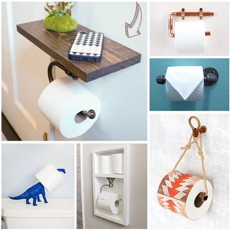 Make Toilet Paper Holder - diy toilet paper holders to make for your home