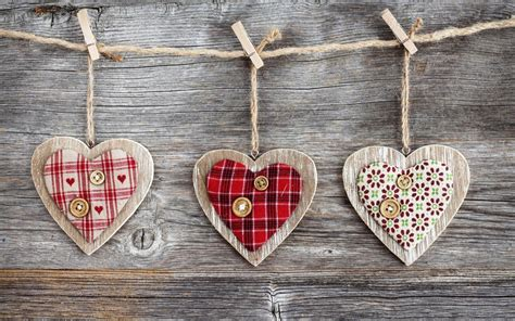 Wood String - wood hearts on a string walldevil