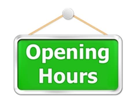 instruments opening hours
