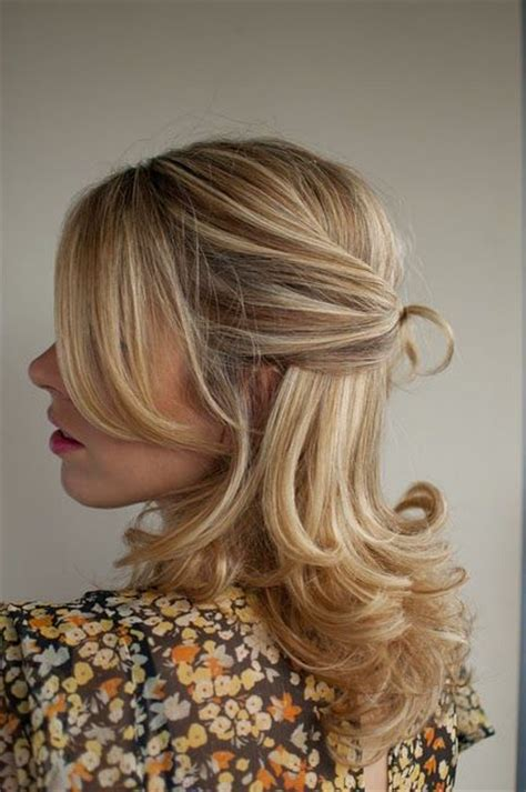 hairstyles for medium length hair tied up half up half down twisted and tied in a knot