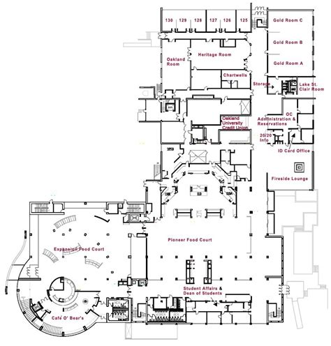 university floor plans directions maps