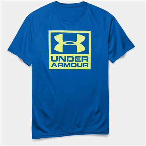 Clothing Armour Boxed Logo clothing armour tech boxed logo t shirt fitness