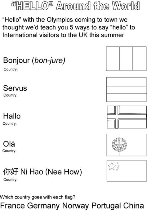 how to say worksheet in 65 best images about summer c around the world on around the worlds passport