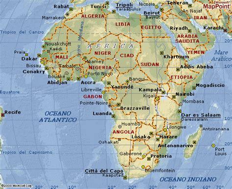 lafrica mappa cartina muta africa nord