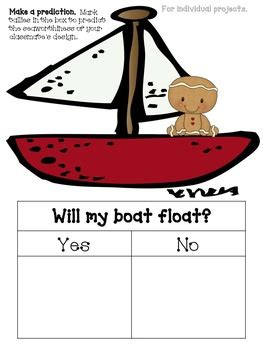 gingerbread boat float  stem activity  tammy williams tpt