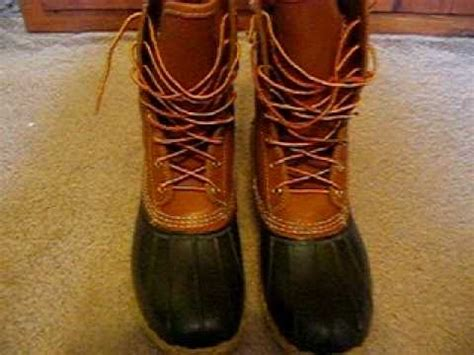 how to lace up bean boots l l bean boots