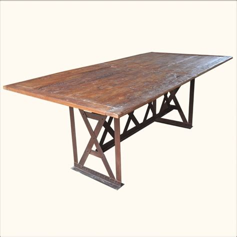 Wood Folding Dining Table Rustic Distressed Solid Teak Wood Folding Large 78 Quot Dining Room Table Furniture Ebay