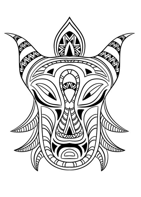 coloring pages for adults masks free coloring page coloring adult african mask 3 coloring