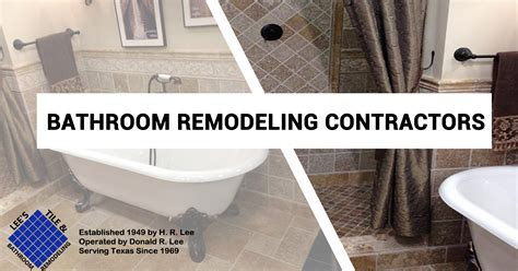 the best bathroom remodeling contractors in prosper tx