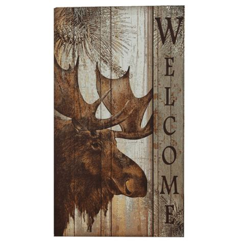 Moose Decor by Moose Welcome Sign