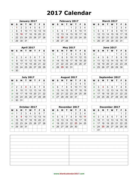 Yearly Calendar 2017   weekly calendar template