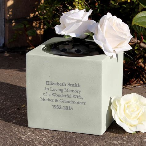 Memorial Vases For Uk by Personalised Memorial Vase