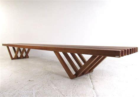 mid century modern slat bench coffee table at 1stdibs