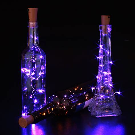 Cork Shaped Wine Bottle Led Night Starry Light String 5cm Wine Bottle String Lights