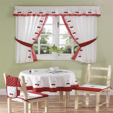 Curtains For Kitchen Premium Quality Cherries Kitchen Curtains Curtains From Pcj Home Supplies Uk