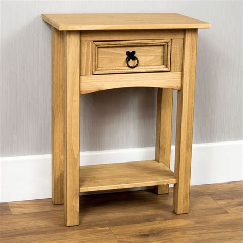 corona console tables 1 2 3 drawer shelf solid pine wood