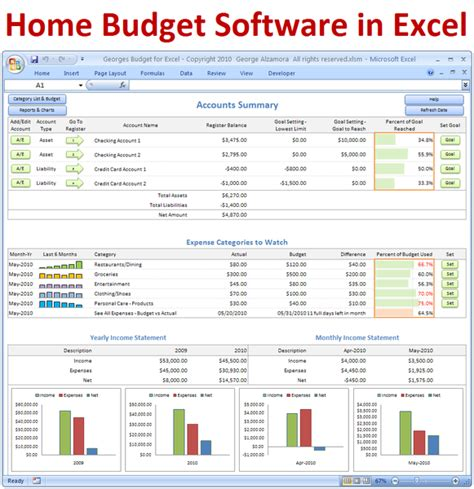Excel Compatible Spreadsheet Software by Excel Budget Spreadsheet And Checkbook Register Software