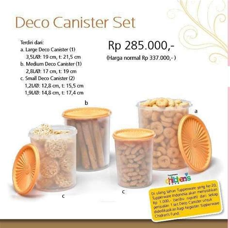 Tupperware Deco Canister tupperware ku ceria
