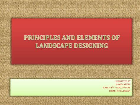 principles of landscape